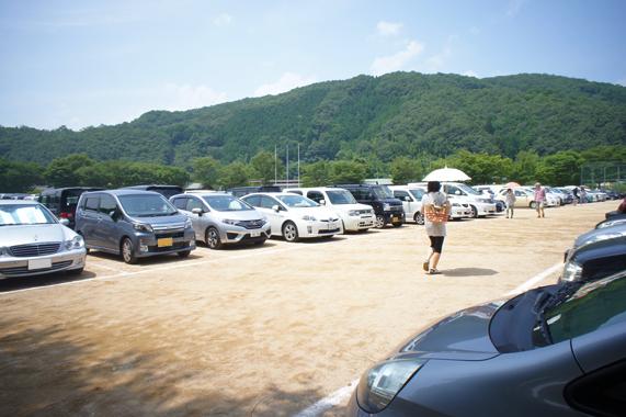 関西最大級のひまわり畑【兵庫県/佐用町】の駐車場