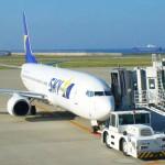 スカイマークの飛行機で沖縄へ